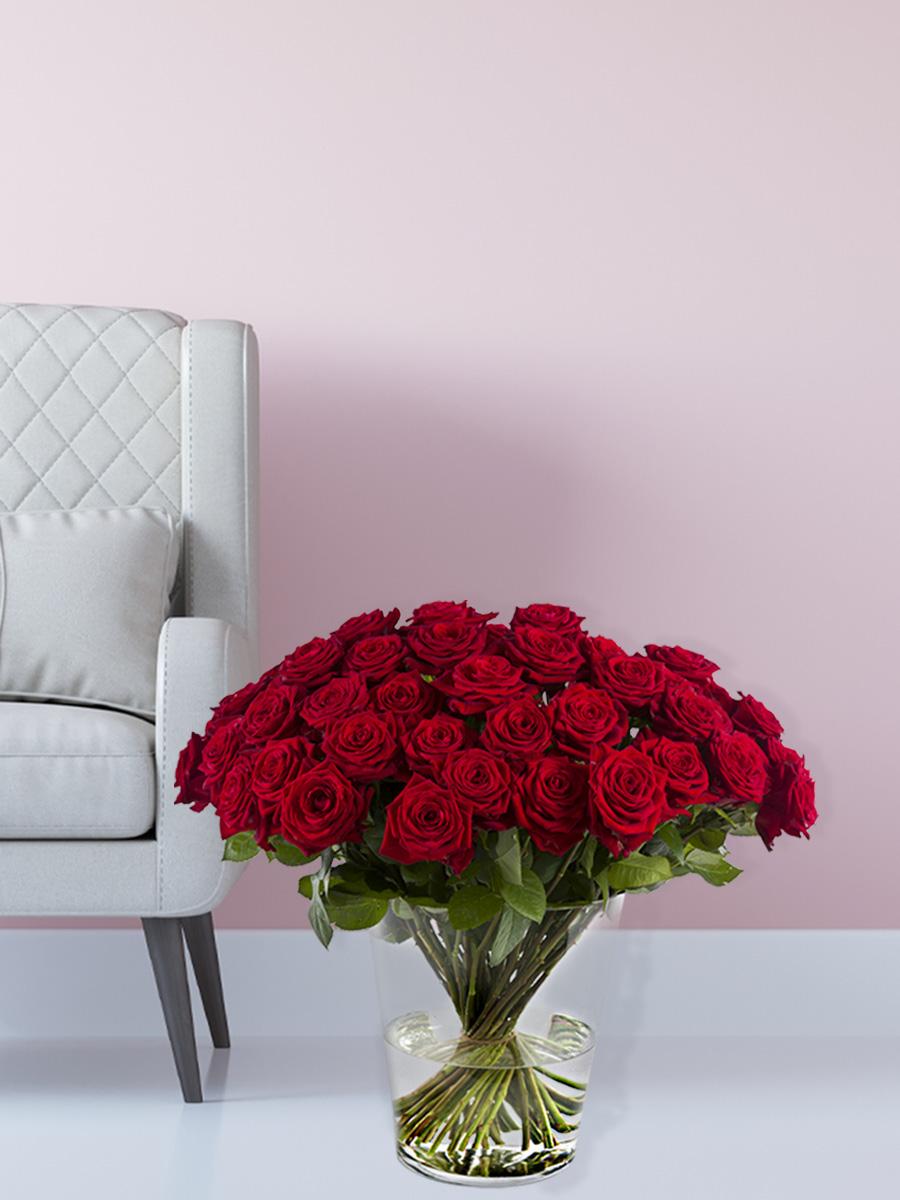50 rote Rosen bestellen