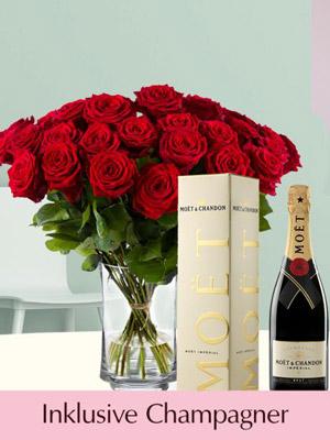 Rosen und Champagner zum Geburtstag verschicken