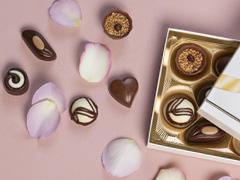 Rosen mit Schokolade